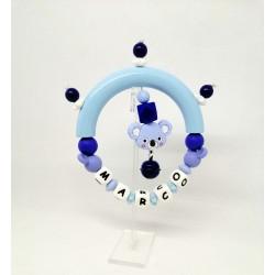 Sonajero Koala Azul