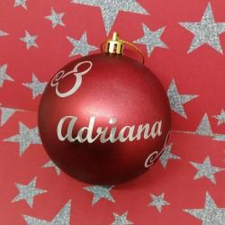 Bola Navidad personalizada 8cm