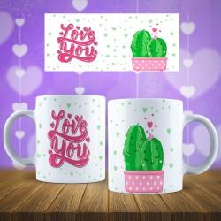 Taza Cactus Love you